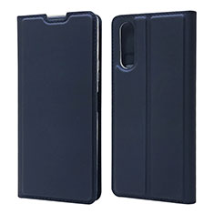 Leather Case Stands Flip Cover L04 Holder for Sony Xperia 10 II Blue