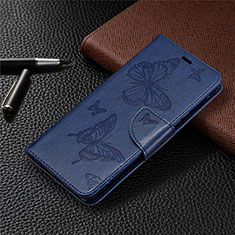 Leather Case Stands Flip Cover L04 Holder for Sony Xperia L4 Blue