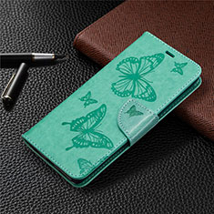 Leather Case Stands Flip Cover L04 Holder for Sony Xperia L4 Green