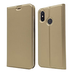Leather Case Stands Flip Cover L04 Holder for Xiaomi Mi 8 Gold