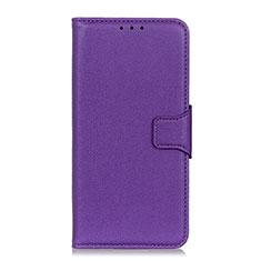 Leather Case Stands Flip Cover L04 Holder for Xiaomi Redmi 9i Purple