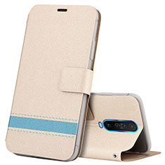 Leather Case Stands Flip Cover L04 Holder for Xiaomi Redmi K30i 5G Gold
