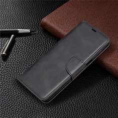 Leather Case Stands Flip Cover L04 Holder for Xiaomi Redmi Note 9 Pro Black