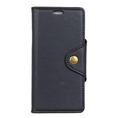 Leather Case Stands Flip Cover L05 Holder for Alcatel 1X (2019) Black
