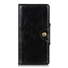 Leather Case Stands Flip Cover L05 Holder for Alcatel 3X Black