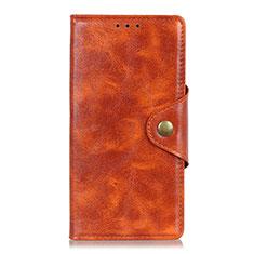 Leather Case Stands Flip Cover L05 Holder for Alcatel 3X Orange