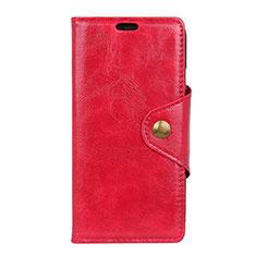 Leather Case Stands Flip Cover L05 Holder for Alcatel 5V Red