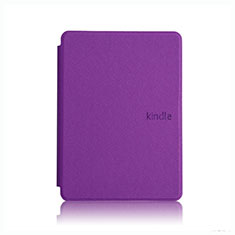 Leather Case Stands Flip Cover L05 Holder for Amazon Kindle Paperwhite 6 inch Purple
