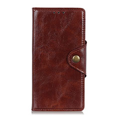 Leather Case Stands Flip Cover L05 Holder for Asus Zenfone Max Plus M2 ZB634KL Brown