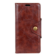 Leather Case Stands Flip Cover L05 Holder for Asus Zenfone Max Pro M2 ZB631KL Brown