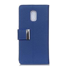 Leather Case Stands Flip Cover L05 Holder for Asus ZenFone V Live Blue