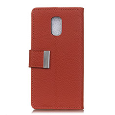 Leather Case Stands Flip Cover L05 Holder for Asus ZenFone V Live Red Wine