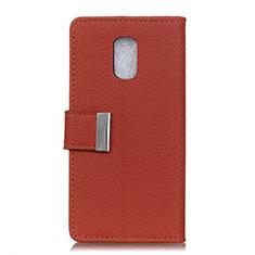Leather Case Stands Flip Cover L05 Holder for Asus ZenFone V500KL Red Wine