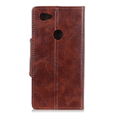 Leather Case Stands Flip Cover L05 Holder for Google Pixel 3a XL Brown