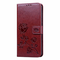 Leather Case Stands Flip Cover L05 Holder for Huawei Honor 9A Brown