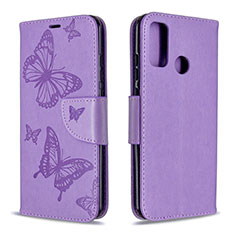 Leather Case Stands Flip Cover L05 Holder for Huawei P Smart (2020) Purple