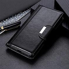 Leather Case Stands Flip Cover L05 Holder for Motorola Moto E6s (2020) Black