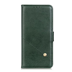 Leather Case Stands Flip Cover L05 Holder for Motorola Moto G 5G Green