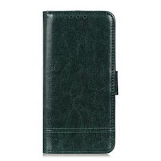 Leather Case Stands Flip Cover L05 Holder for Motorola Moto G Fast Green