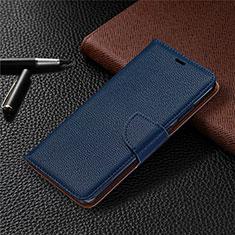 Leather Case Stands Flip Cover L05 Holder for Nokia 5.3 Blue