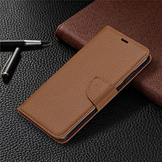 Leather Case Stands Flip Cover L05 Holder for Nokia 5.3 Brown