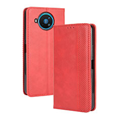 Leather Case Stands Flip Cover L05 Holder for Nokia 8.3 5G Red