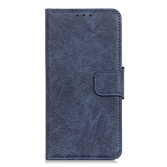Leather Case Stands Flip Cover L05 Holder for Oppo A15 Blue