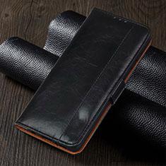 Leather Case Stands Flip Cover L05 Holder for Oppo Reno4 Z 5G Black