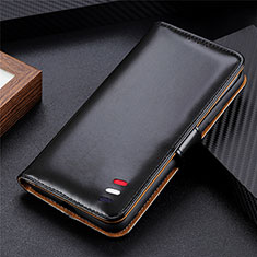 Leather Case Stands Flip Cover L05 Holder for Oppo Reno5 Pro+ Plus 5G Black