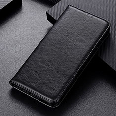 Leather Case Stands Flip Cover L05 Holder for Samsung Galaxy M21 Black