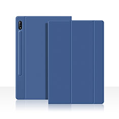Leather Case Stands Flip Cover L05 Holder for Samsung Galaxy Tab S7 4G 11 SM-T875 Blue