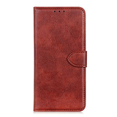 Leather Case Stands Flip Cover L05 Holder for Sony Xperia 5 II Brown