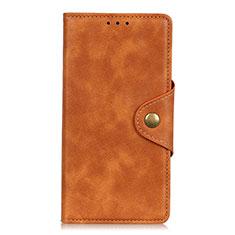 Leather Case Stands Flip Cover L05 Holder for Vivo V20 SE Orange