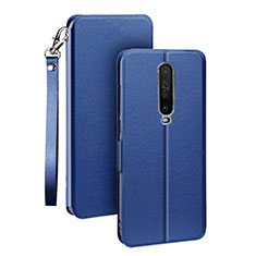 Leather Case Stands Flip Cover L05 Holder for Xiaomi Redmi K30 5G Blue