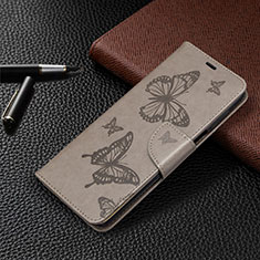 Leather Case Stands Flip Cover L05 Holder for Xiaomi Redmi Note 9 Pro Gray