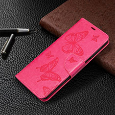 Leather Case Stands Flip Cover L05 Holder for Xiaomi Redmi Note 9 Pro Hot Pink