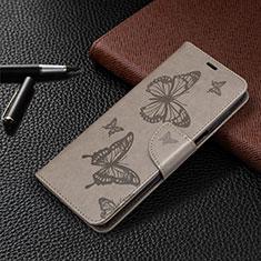 Leather Case Stands Flip Cover L05 Holder for Xiaomi Redmi Note 9 Pro Max Gray