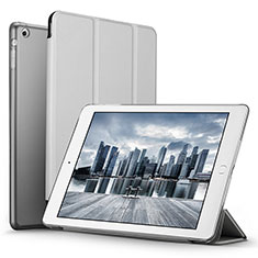 Leather Case Stands Flip Cover L06 for Apple iPad Mini Silver