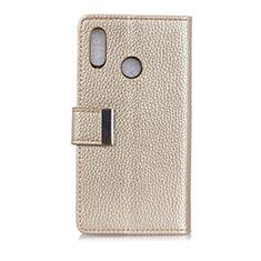 Leather Case Stands Flip Cover L06 Holder for Asus Zenfone 5 ZE620KL Gold