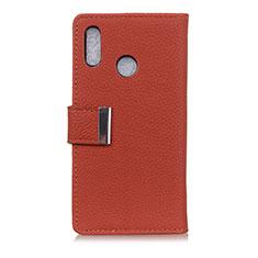 Leather Case Stands Flip Cover L06 Holder for Asus Zenfone 5 ZE620KL Red Wine