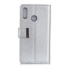 Leather Case Stands Flip Cover L06 Holder for Asus Zenfone 5 ZE620KL Silver