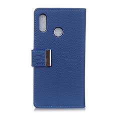 Leather Case Stands Flip Cover L06 Holder for Asus Zenfone 5 ZS620KL Blue