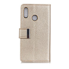 Leather Case Stands Flip Cover L06 Holder for Asus Zenfone 5 ZS620KL Gold