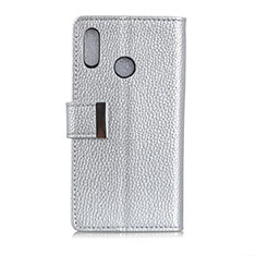 Leather Case Stands Flip Cover L06 Holder for Asus Zenfone 5 ZS620KL Silver