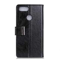 Leather Case Stands Flip Cover L06 Holder for Asus Zenfone Max Plus M1 ZB570TL Black