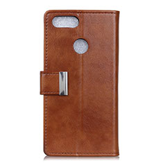 Leather Case Stands Flip Cover L06 Holder for Asus Zenfone Max Plus M1 ZB570TL Brown