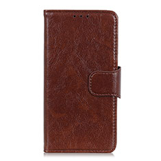 Leather Case Stands Flip Cover L06 Holder for Asus Zenfone Max Plus M2 ZB634KL Brown