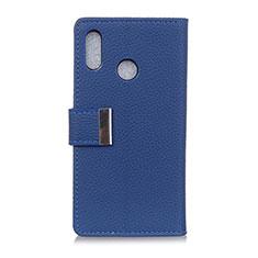 Leather Case Stands Flip Cover L06 Holder for Asus Zenfone Max ZB555KL Blue
