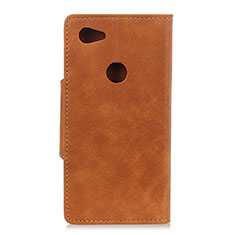 Leather Case Stands Flip Cover L06 Holder for Google Pixel 3a XL Brown