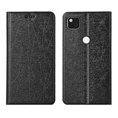 Leather Case Stands Flip Cover L06 Holder for Google Pixel 4a Black